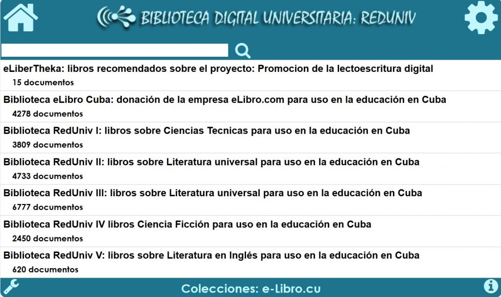 Biblioteca Digital Universitaria: RedUniv (página de inicio)