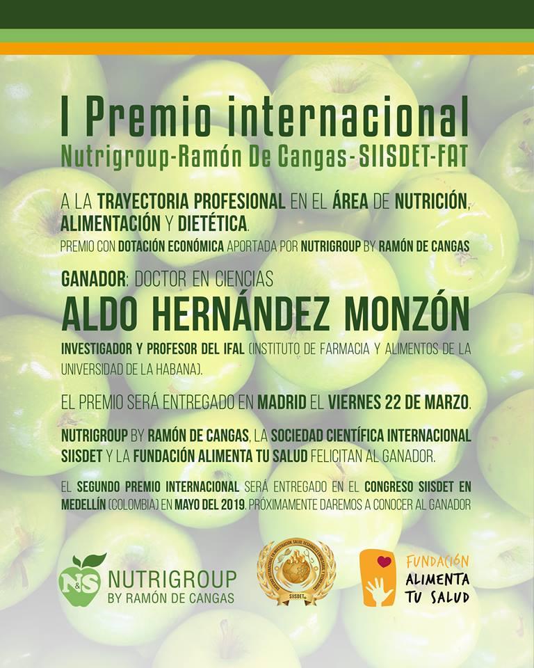 Copia del diploma entregado al Dr. C. Aldo Hernández Monzón.